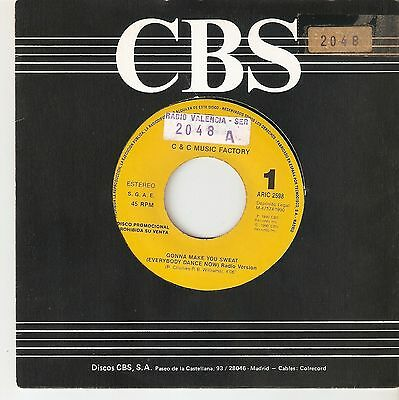 """C&c Music Factory 7"""" Spain 45 Gonna Make You Sweat Everybody Dance Now House Cbs"""