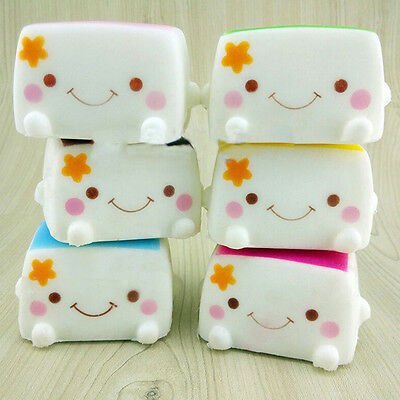 Colorful Soft Squishy Chinese Tofu Adorable Expression Smile Face Fun Toys Hot