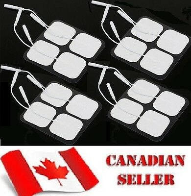 Carbon Electrode Pads Reuseable TENS EMS Pin Style