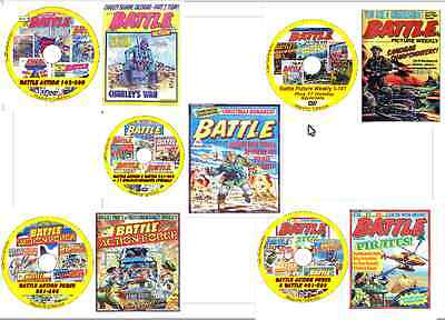 3,104 issues 14 DVDs Battle Action Hotspur Bullet Rover Warlord Comics BUNDLE 2