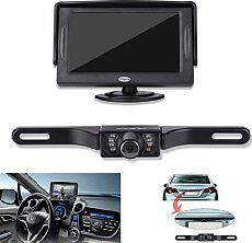 "Wireless Car Reversing Rear View Ccd Camera Parking Kit + 4.3"" Lcd Tft Monitor"