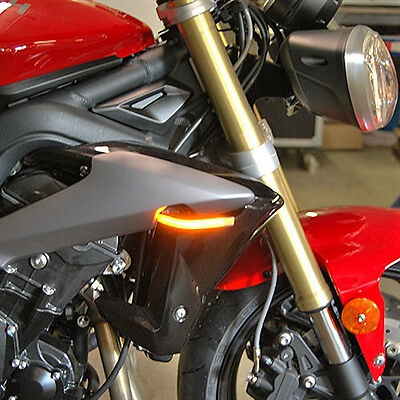Triumph Street Triple LED Front Turn Signals Markers Flush Mount 2013-2015