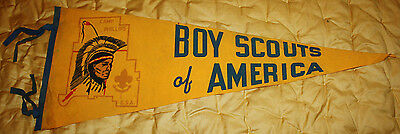 Vintage 50s/60 BSA Boy Scouts of America Camp Phillips Wisconsin 29x11 Pennant