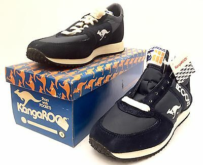 Vintage New Old Stock KangaRoos ROOS Boy's Sneakers 4 Blue Suede Shoes Hipster