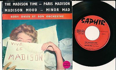 """Roby Davis 45 Tours Ep 7"""" France The Madison Time"""