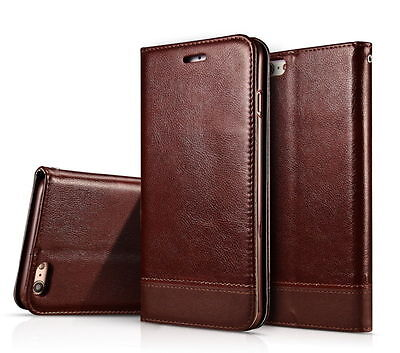 Slim Leather Wallet Card Case Magnetic Flip Cover Stand For Apple iPhone 7 Plus
