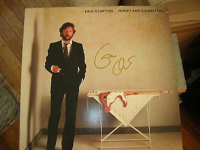 - Eric Clapton Signed Lp Money And Cigarettes 1983