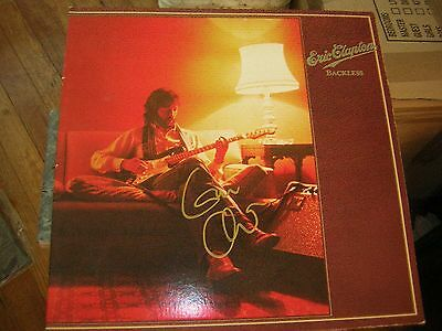 - Eric Clapton Signed Lp Backless 1978