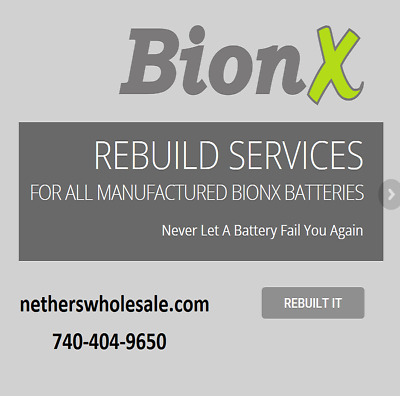 Rebuild service for Trek Bionx E-Bike battery and other