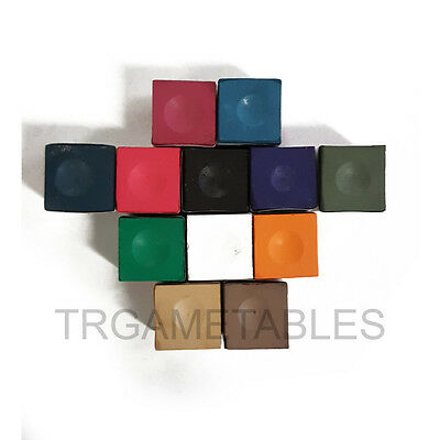 A Dozen USA Billiard Chalk for Pool Snooker Quality Silver Cup Chalks Free Post