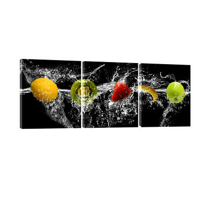 Canvas Print Photo Wall Art Painting Pictures Kitchen Home Room Decor Fruit 3PCS