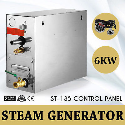 6KW Steam Generator Sauna Bath Home SPA Shower Steam Room Controller 220V