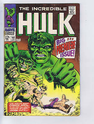 Incredible Hulk #102 Marvel 1968