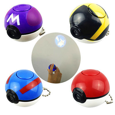 Pokemon go pikachu Master pokeball cosplay toy keychain  projection Projector