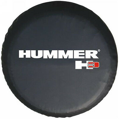 "Spare Tire Cover Wheel 16"" For Hummer H3 Size L Black New"
