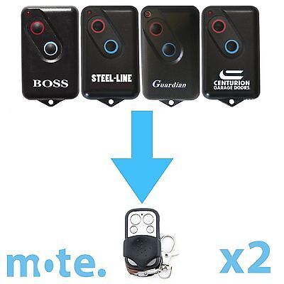 2 x Boss/Guardian/Steel-Line 2211L Compatible Garage Door Remote BHT4/BOL4/BRD1
