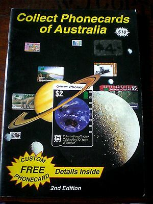 Aust COLLECT PHONECARDS OF AUSTRALIA 2nd Ed, Rare  M HUDSON Phone Cards s/c