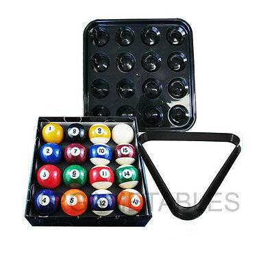 2 Inch Pool Balls with Plastic Triangle / Ball Tray Package for Billiard Snooker
