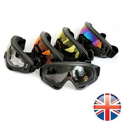 *UK Seller* Airsoft Tactical Goggles Glasses Face Eye Protection Mask Compatible