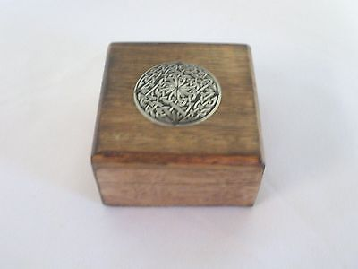 "Wood Box with Celtic Design- 2.50"" x 2.50"" - Petite"