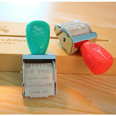 Lovely Date Roller Wheel Seal Cartoon DIY Stamp School Supplies Diary Decoration