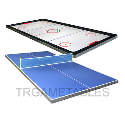 Kids Ping Pong / Poker / Air Hockey Table Top suits for 8FT Pool Billiard Table