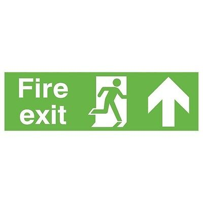 Signs and Labels Safety Sign Niteglo Fire Exit Running Man Arrow Up FX04711M