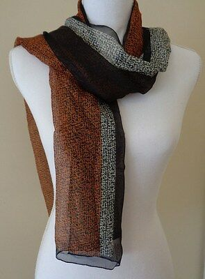 Long tri coloured made in Italy scarf
