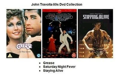 John Travolta 80S Dvd Collection Grease Saturday Night Fever Staying Alive New