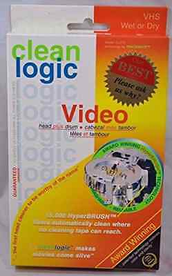 New free shipping great Clean Logic Video VHS Cleaner Head plus Drums Wet or Dry