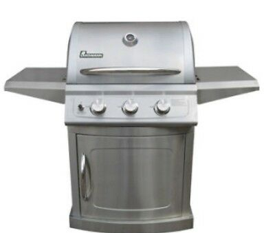 New Landmann 3 Grill Barbecue. Stainless Steel BBQ