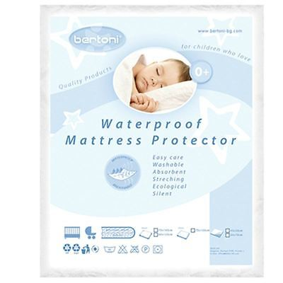 Lorelli Waterproof Baby Cot Crib Cradle Bed Mattress Protector Sheet Cover