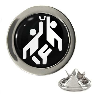 Olympic Sign Basketball Metal 20mm Lapel Pin