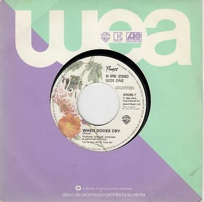 "PRINCE - When Doves Cry - ultr@r@re Spanish 7"" single 45 PROMO Spain 1984"