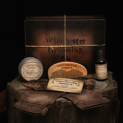 Beard Oil + Balm + Comb - Beard Box - Great mens Christmas gift idea !