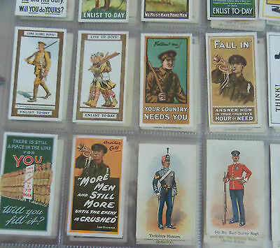 WILLS CIGARETTE CARDS RECRUITING POSTERS 1915 COMPLETE SET of 12