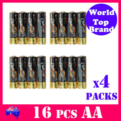 16x AA Super Alkaline Battery PAIRDEER Premium Quality LR6 Free Shipping