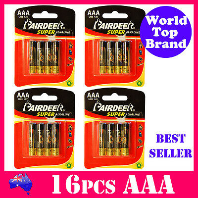 16pcs AAA Super Alkaline Battery PAIRDEER Premium Quality LR03 Free Shipping