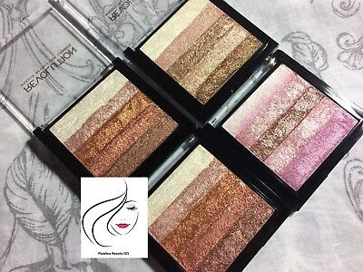 MAKEUP REVOLUTION Vivid shimmer brick Highlighter Bronze Radiant Rose Gold Pink