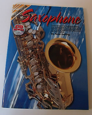 PROGRESSIVE SAXOPHONE Book & CD Peter Gelling Scales swing rythams blues time