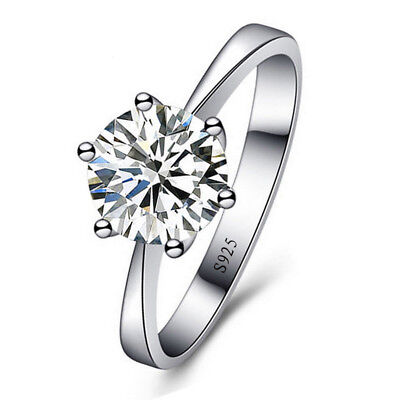 925 Sterling Silver Ring AAA Zircon Diamond Rings Women Wedding Jewelry