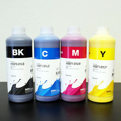 Inktec 1 Liter x 4 Color HP 970 971 970XL 971XL CISS and Cartridge Refill INK