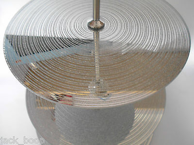 Silver Glitter Glass 3 Tier Cake Stand Wedding Party Christmas