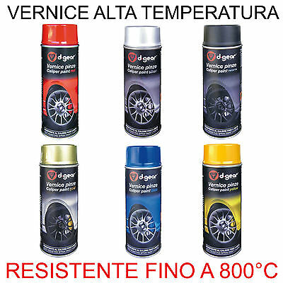 VERNICE SPRAY ALTA TEMPERATURA 800°C 400ml per pinze freno scarichi ecc.. D-GEAR