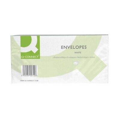 Q-Connect Envelope DL Window 80gsm White Self-Seal Pack of 50 KF02713 Pack of 20