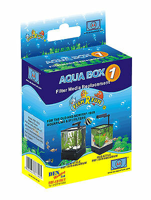 Fish R Fun Aqua Box Filter Media Replacement Size 1 For 1919, 1F1 & PB/Kits