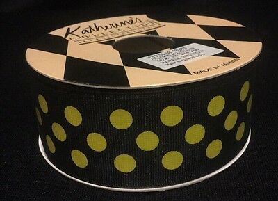 """Katherine's Collection Black & Yellow Bumble Bee 1.5""""x 10YD Ribbon NEW OLD STOCK"""