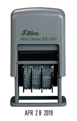 Shiny ES-300 Self-Inking Date Stamp, Black Ink