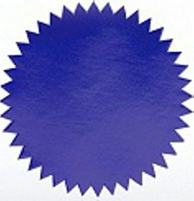 "Shiny Blue Foil Seal Certificate Labels, Pack of 40, 2"" Diameter"