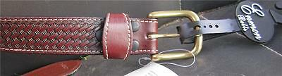 NWT 100% brown leather belt boys size M fits 23, 24 and 25 waist  very nice